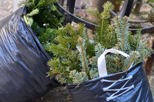 plastic bags Christmas tree