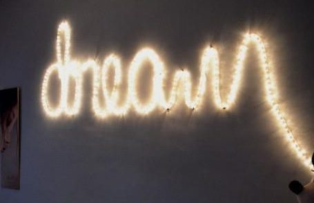 rope light words