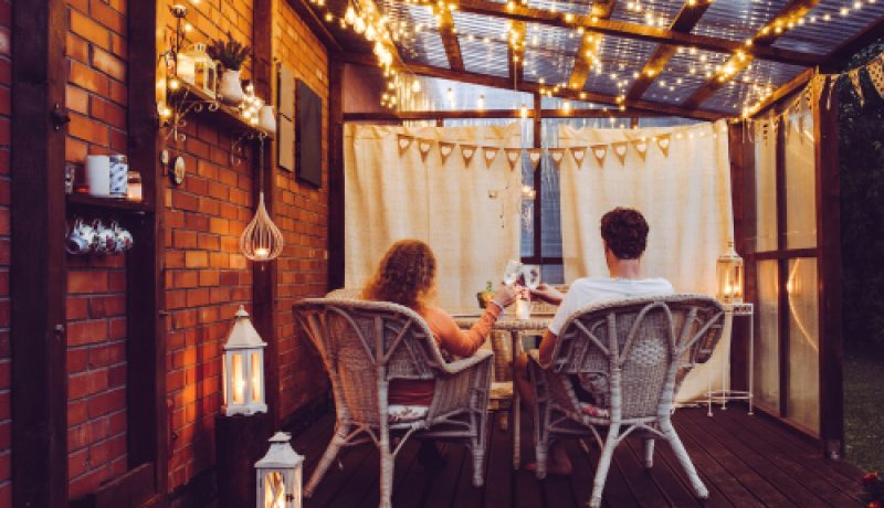 Couple Deck Dining