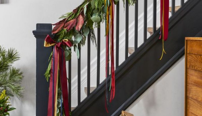 Christmas Decorating Ideas for Ribbons and Bows.