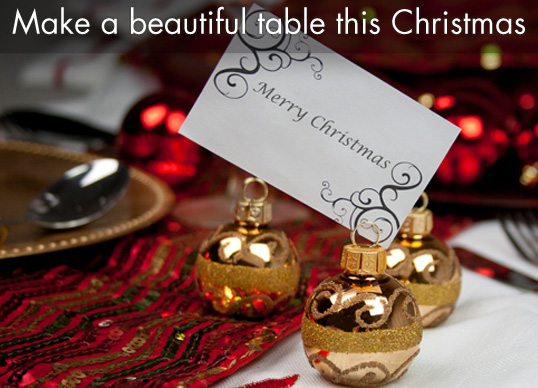 Christmas Table Accessories