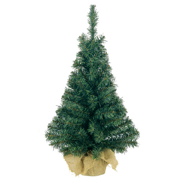 Artificial Green Tree In Jute Bag - 60cm (2ft)