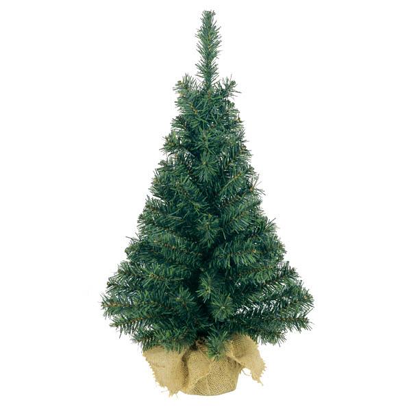 Artificial Green Tree In Jute Bag - 60cm (2ft)