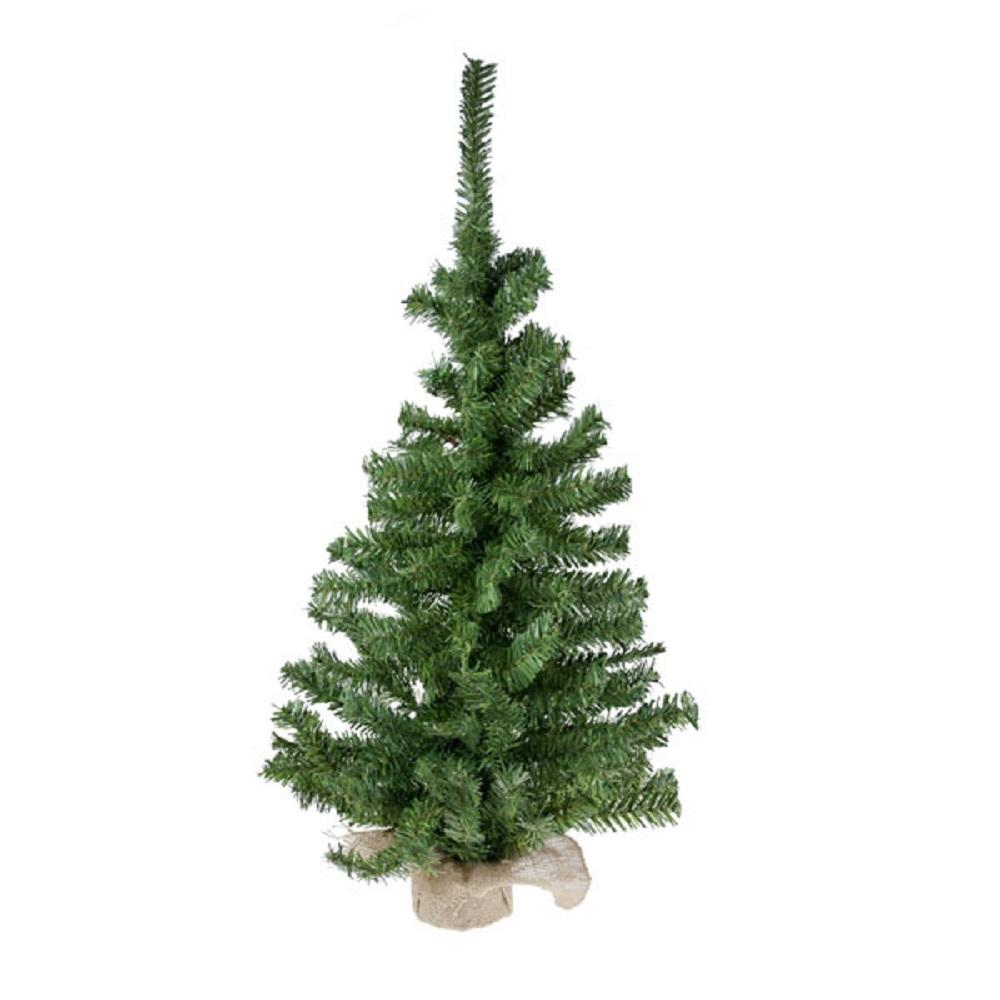 Artificial Green Tree In Jute Bag - 90cm (3ft)