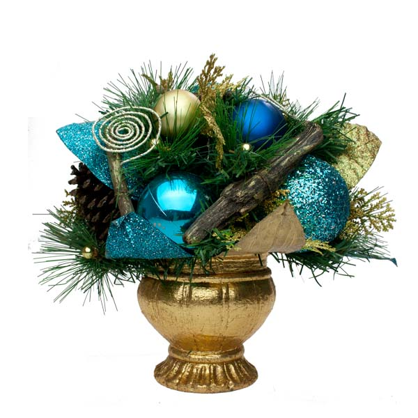 Cinnamon Ice Room Decoration Collection - Round Centrepiece In A Pot