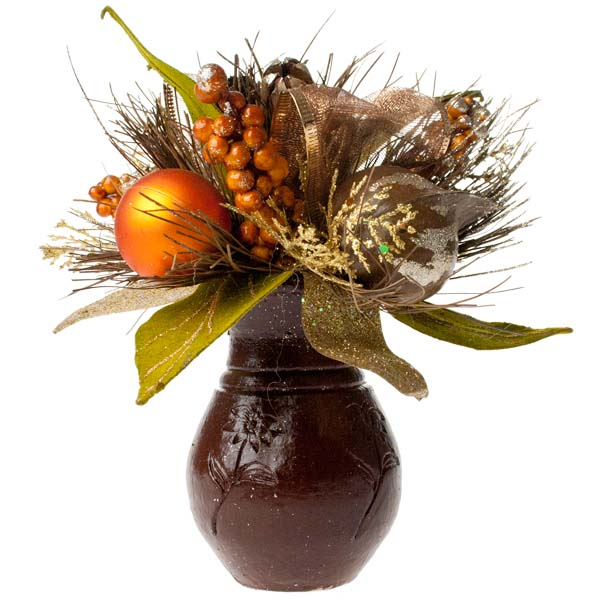 Chocolate Orange Room Decoration Collection - Small Centrepiece
