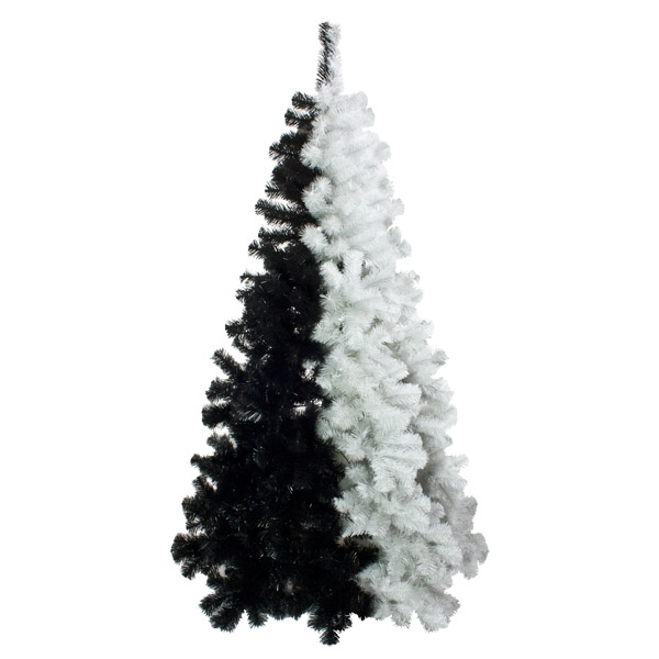 Black And White Artificial Christmas Tree 6ft