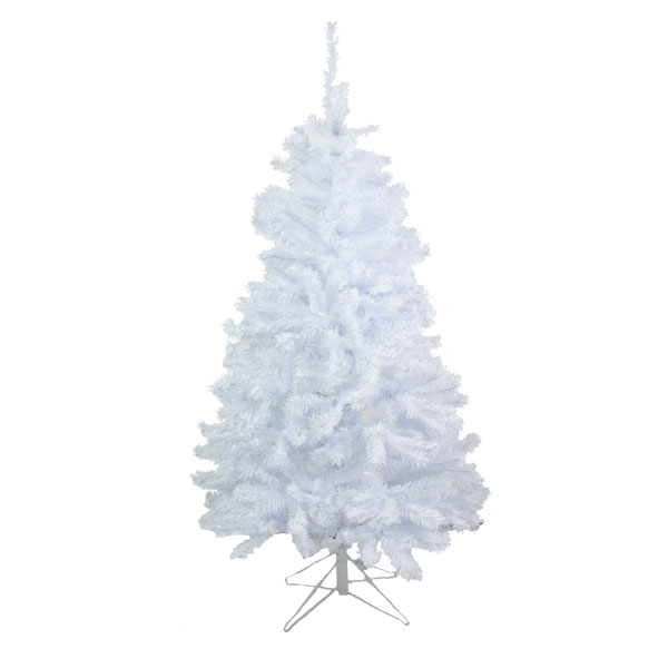 2.4m (8ft) White Artificial Spruce Tree