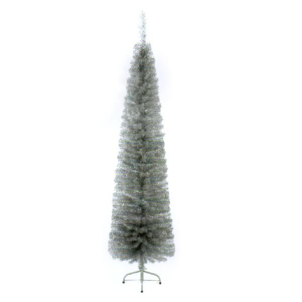 Silver Artificial PVC Pencil Pine Tree - 2m