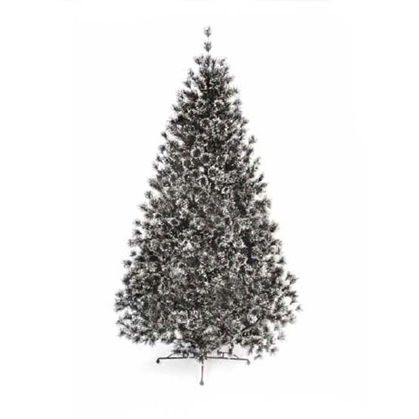 Black Artificial Christmas Trees: 6ft Pre Lit Glacier Black Flocked Artificial Christmas Tree