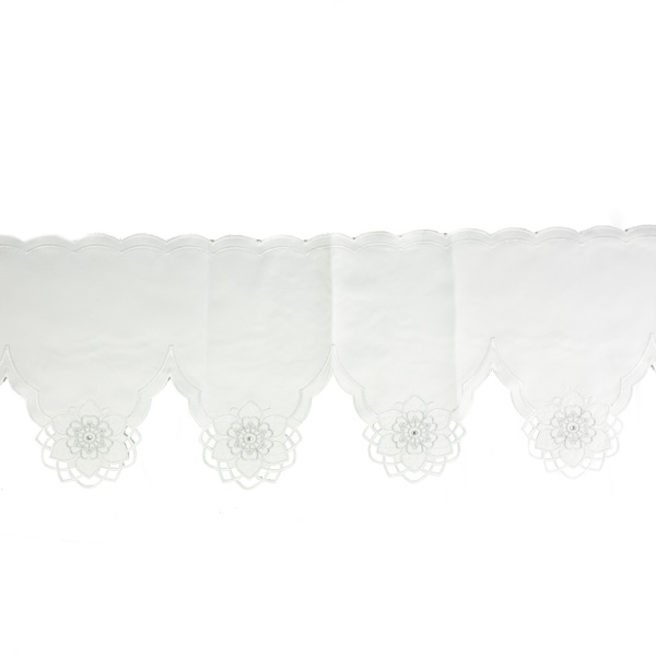 Peggy Wilkins White & Silver Cherish Design Mantle Runner