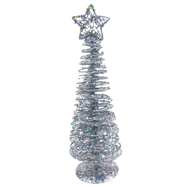 Gisela Graham Silver Wire Table Top Tree - 26cm