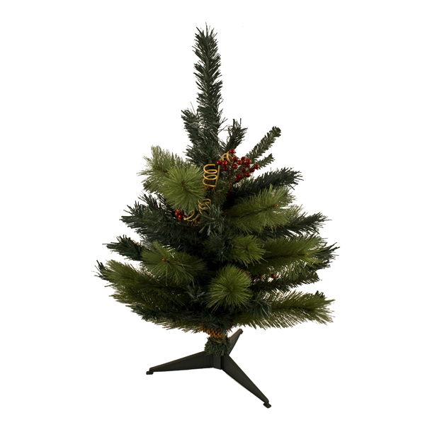 Decorated Green Table Top Tree - 70cm With 77 Tips