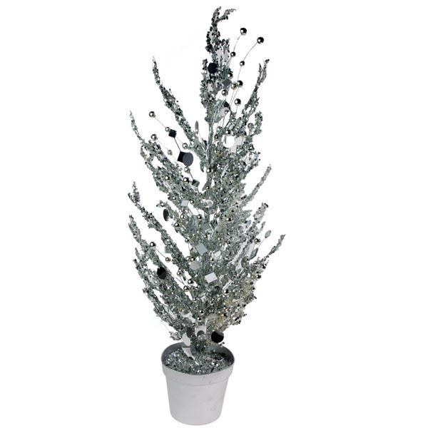 Silver Mirror Table Top Tree - 60cm