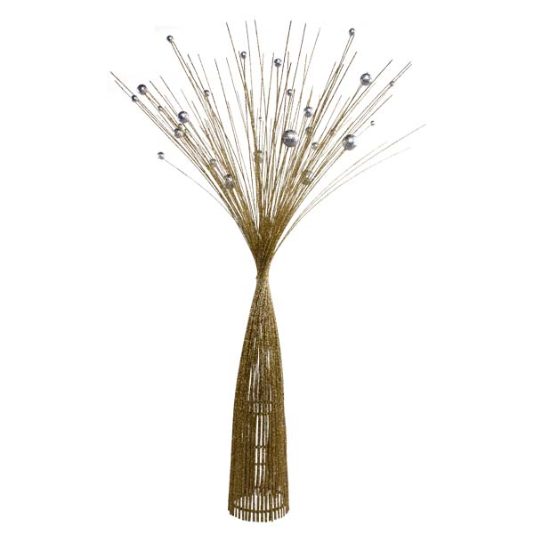 Gold & Silver Sparkle Burst Spray Tree - 85cm