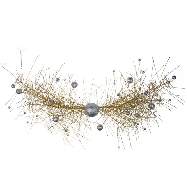 Gold & Silver Sparkle Burst Swag - 80cm