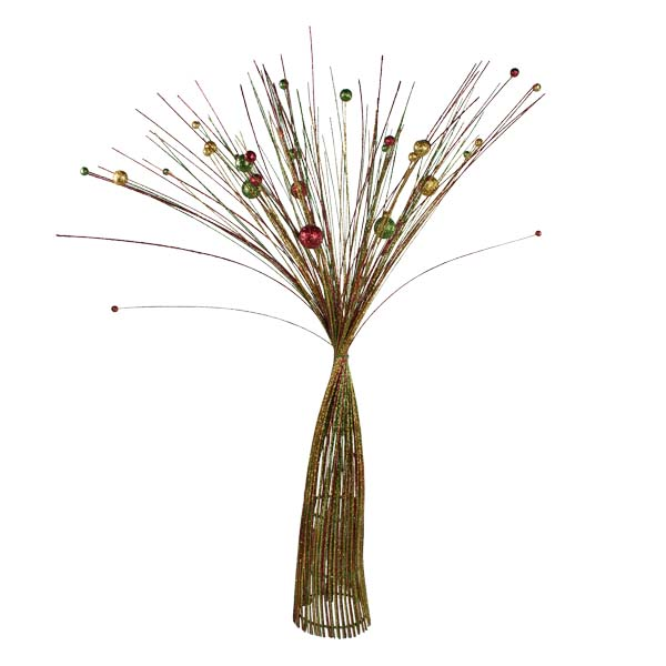 Red, Green & Gold Sparkle Burst Spray Tree - 85cm