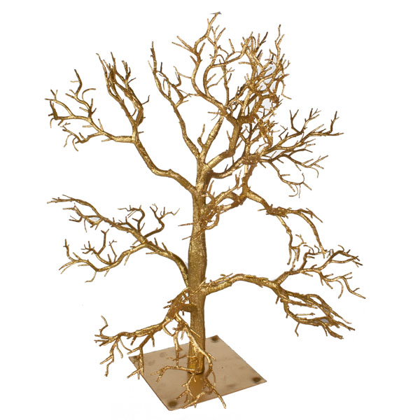 Glittered Gold Branch Twig Tree 70cm Christmas Time Uk