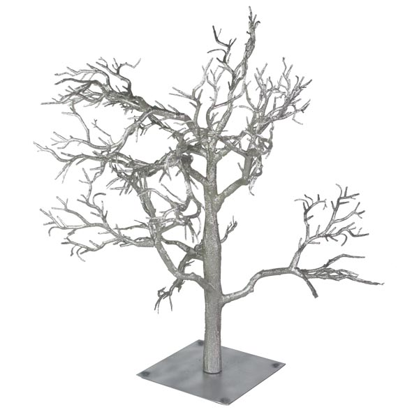Glittered Silver Branch Twig Tree 70cm Christmas Time UK