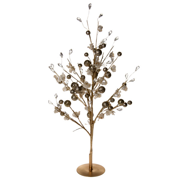 Gold & Ivory Blossom Range - 50cm Table Top Tree