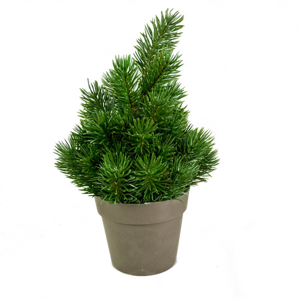 Green Artificial Tree In Pot - 25cm