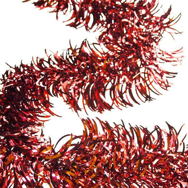 Christmas Red Wavy Tinsel Garland - 2.7m x 100mm