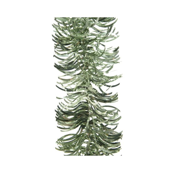 Sage Green Wavy Tinsel Garland - 2.7m x 100mm