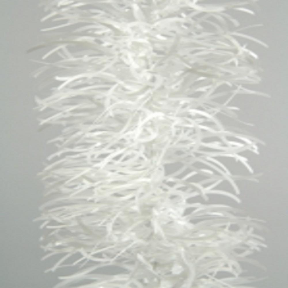 White Wavy Tinsel Garland - 2.7m x 100mm
