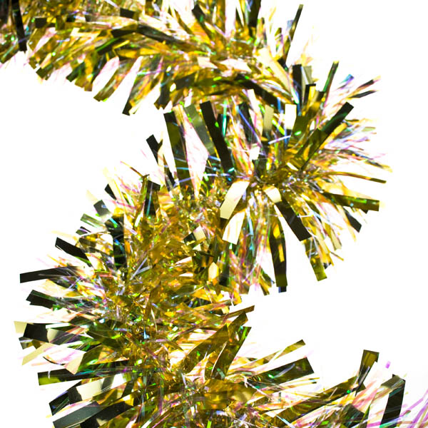 Shiny Gold Luxury Tinsel Garland -  2m X 150mm