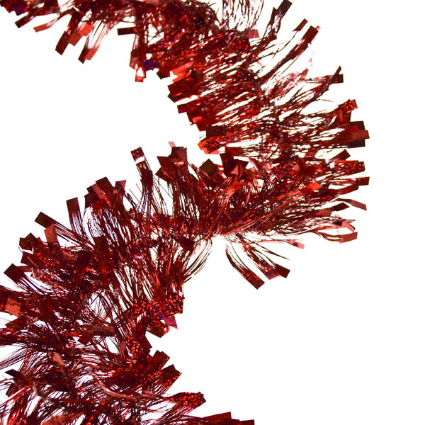 Red Laser Tinsel - 2.7m X 100mm