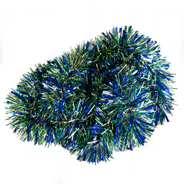 Blue & Green Luxury Tinsel - 2m x 120mm