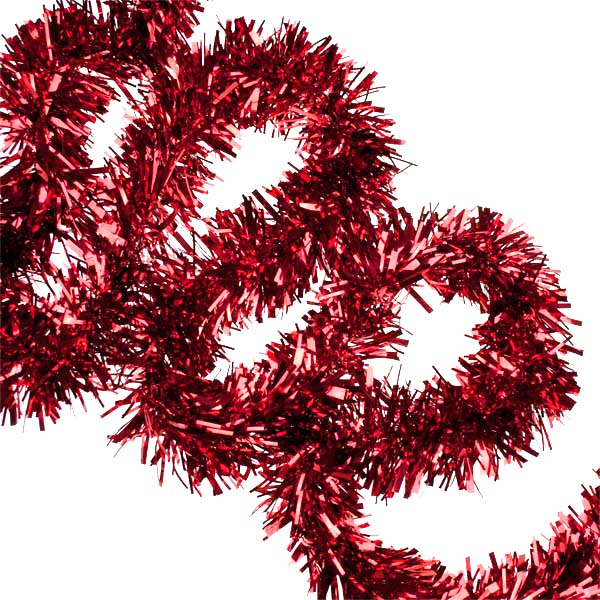 Red Tinsel - 2m x 7cm