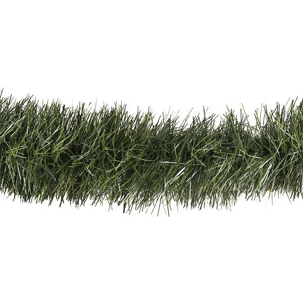 Chunky Cut Matt Green Display Tinsel Garland  - 5m x 200mm