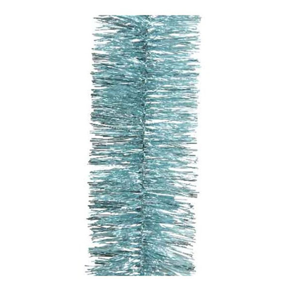 Arctic Blue Shiny Tinsel Garland - 75mm X 2.7m
