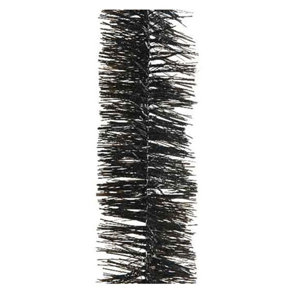 Black Shiny Tinsel Garland - 75mm X 2.7m