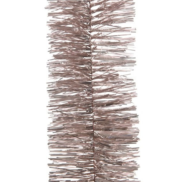 Blush Pink Shiny Tinsel Garland - 75mm X 2.7m