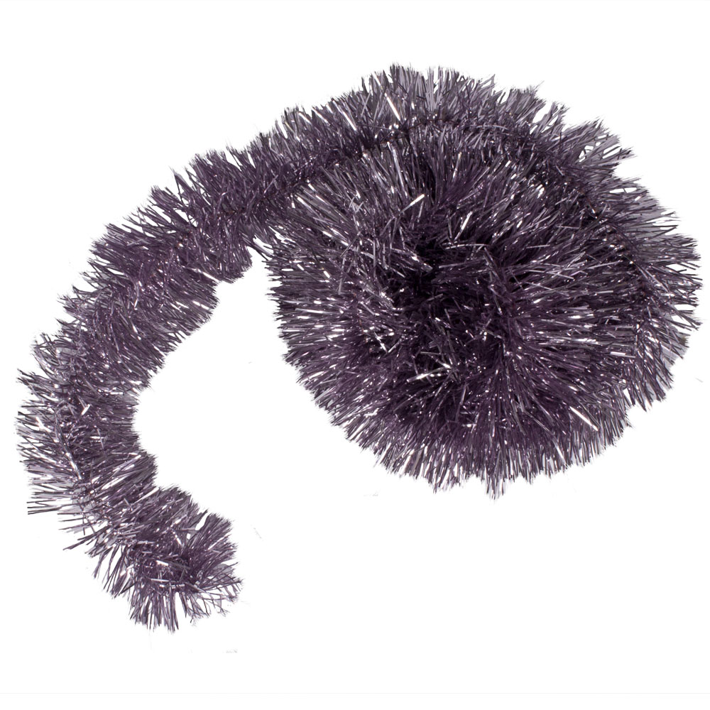 Cloudy Lilac Shiny Tinsel Garland - 75mm X 2.7m
