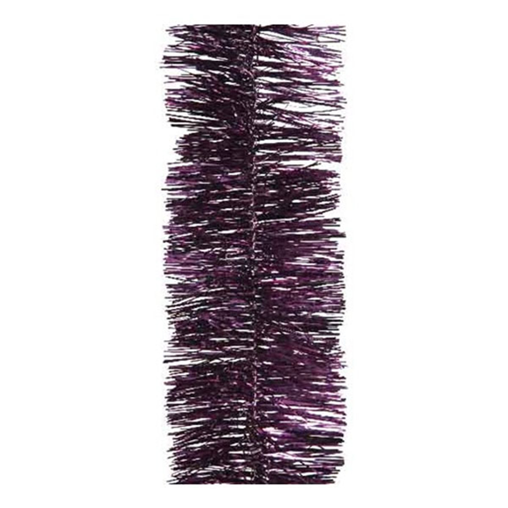 Royal Purple Shiny Tinsel Garland - 75mm X 2.7m