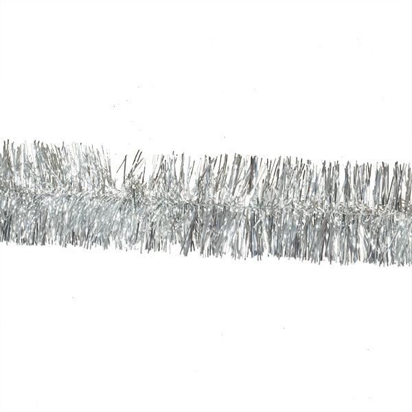 Silver Shiny Tinsel Garland - 2m X 75mm
