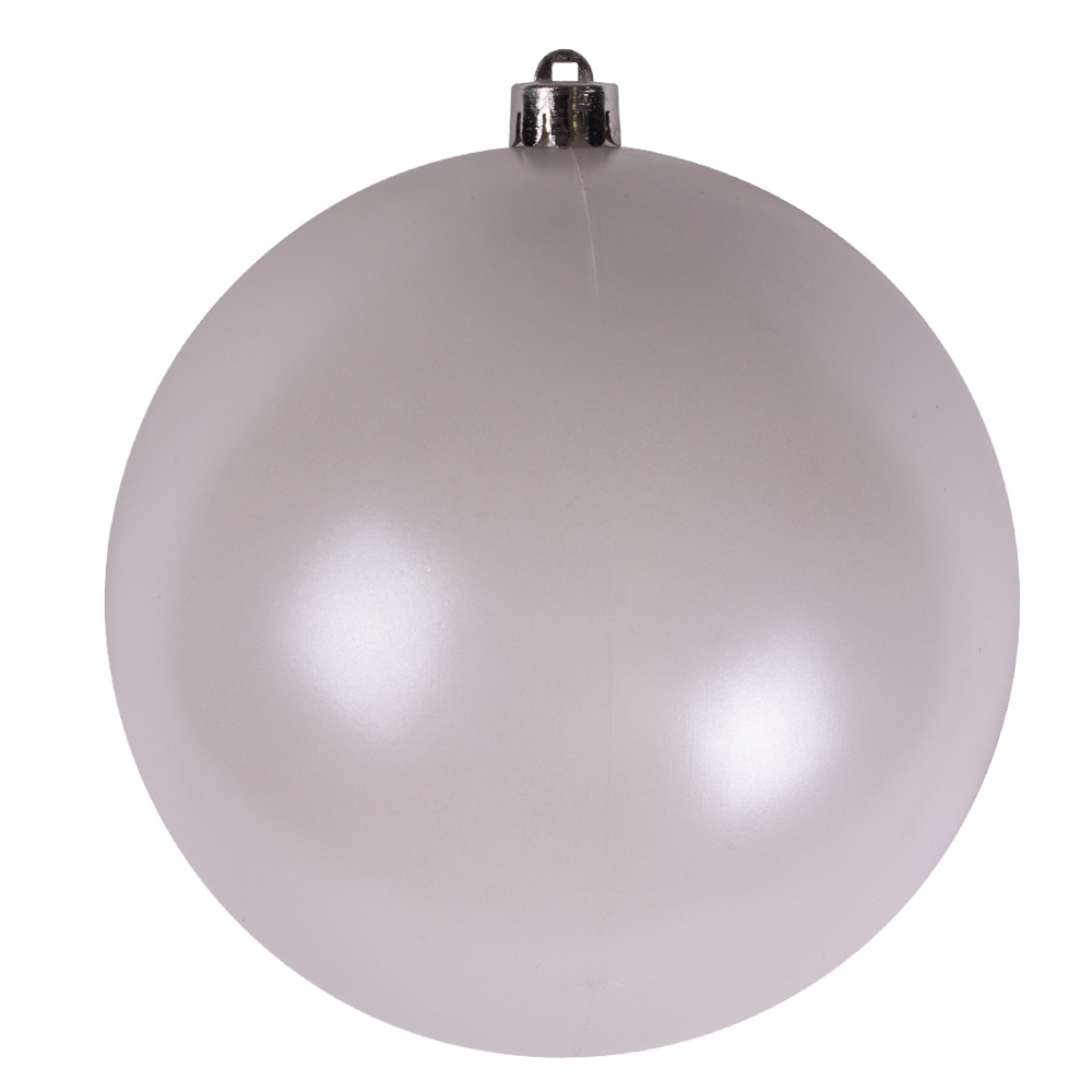 Winter White Baubles - Shatterproof - Single 140mm