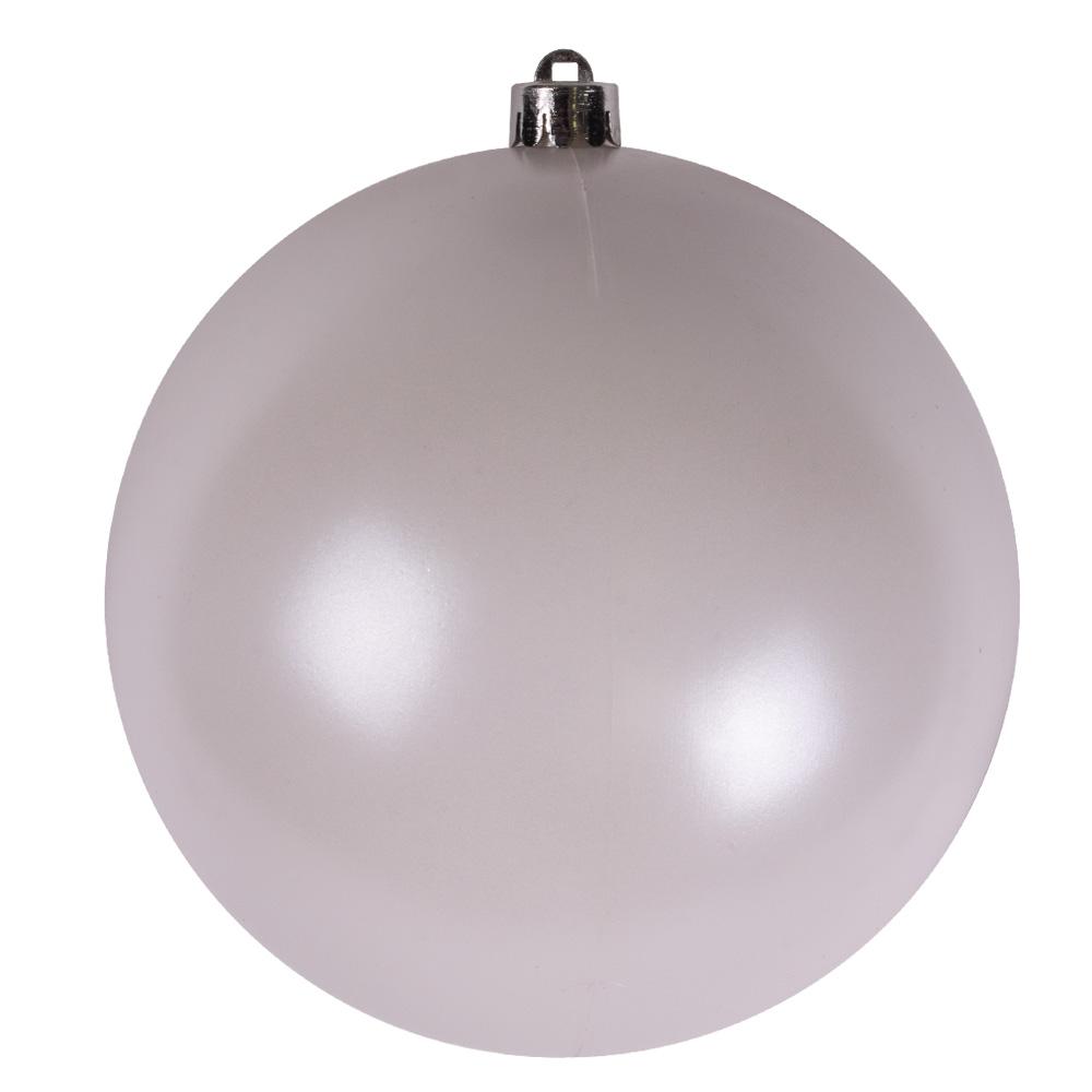 Winter White Baubles - Shatterproof - Single 140mm