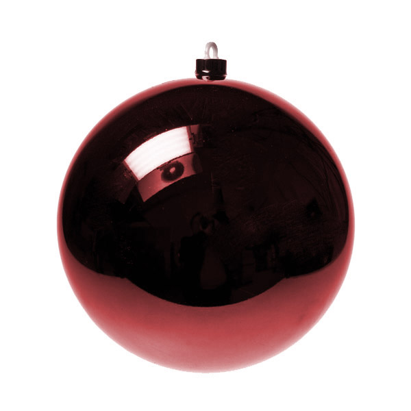 Dark Red Baubles - Shatterproof - Single 200mm