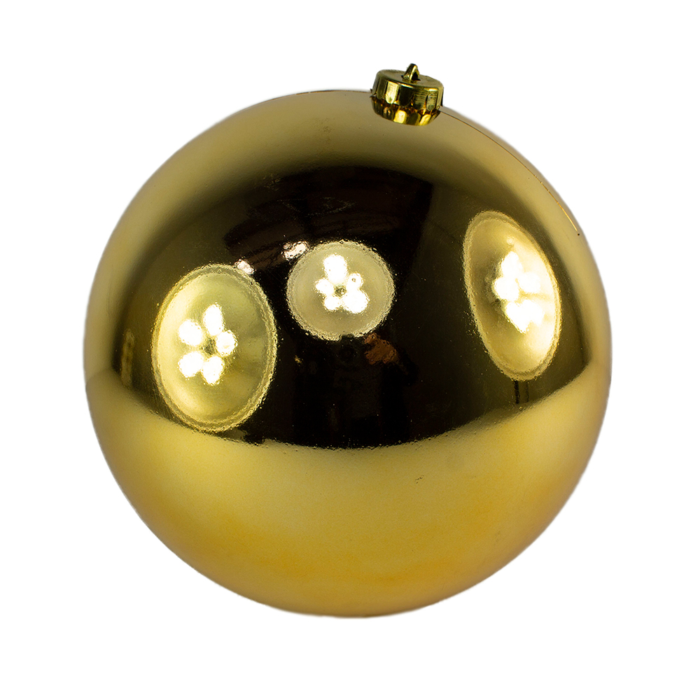 Gold Baubles - Shatterproof - Single 200mm