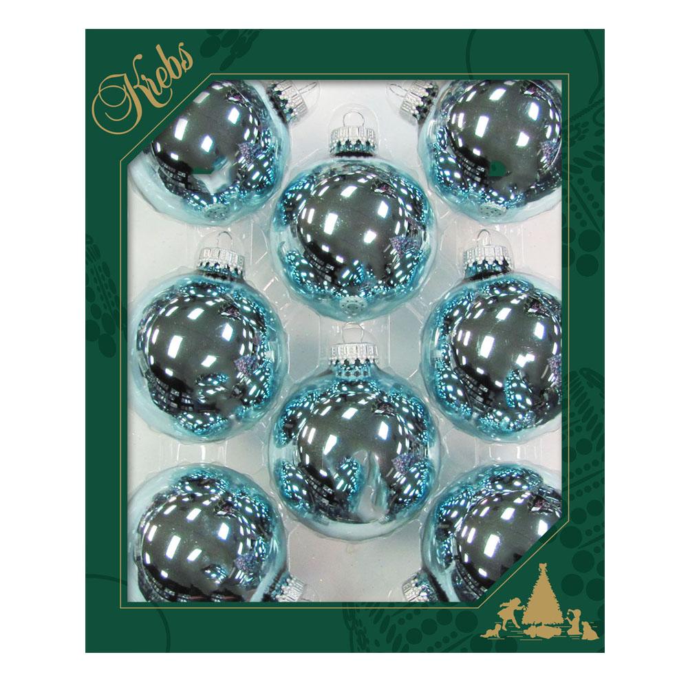 Krebs Starlight Shine Glass Baubles - 8 x 67mm