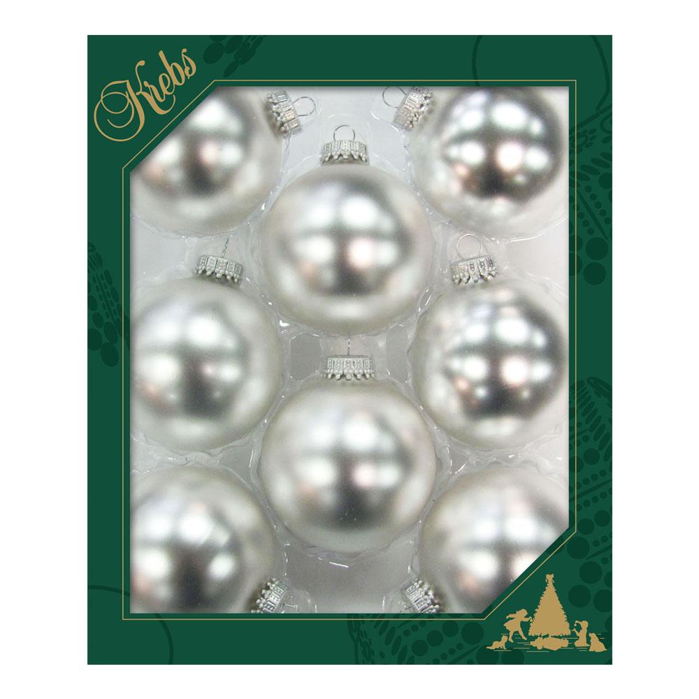 Krebs Sterling Silver Glass Baubles - 8 x 67mm