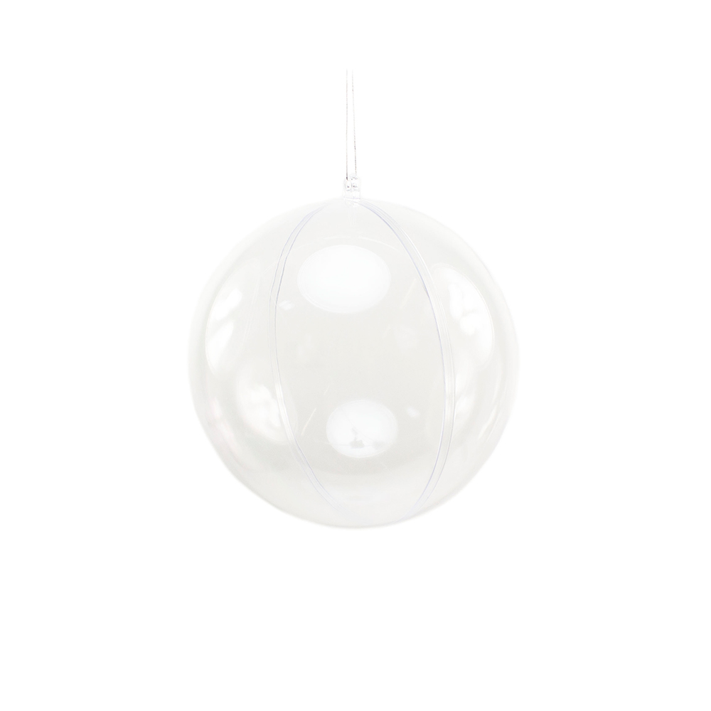 Clear Splittable Bauble - 120mm