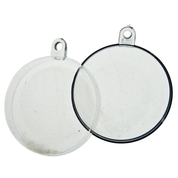 Clear Splittable Bauble - 40mm