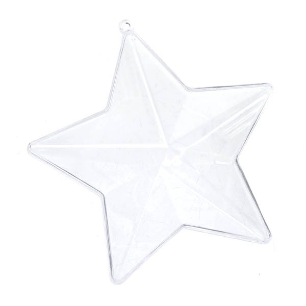 Clear Splittable Star Bauble - 80mm