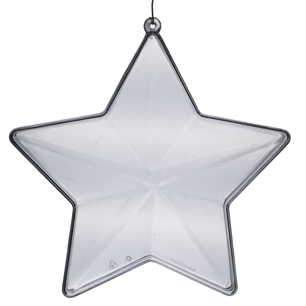 Clear Splittable Star Bauble - 140mm