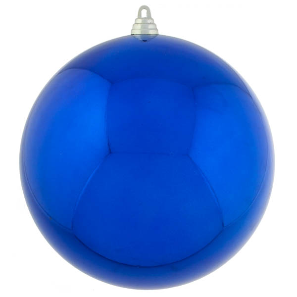 Blue Baubles Shiny Shatterproof - Single 250mm